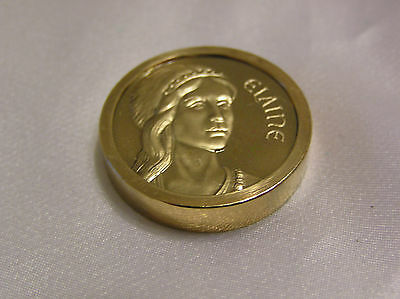 GOLD PLATED MEDALLION ELAINE from KING ARTHUR