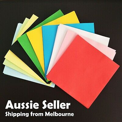 100 Sheets 10 Colors Origami Square Paper 12x12 / 15x15CM Double Sided Acid Free