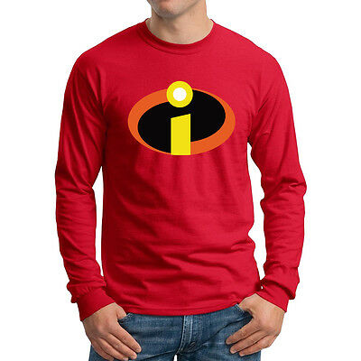 The Incredibles Long Sleeve T-shirt Disney Family party Costume Shirts all sizes