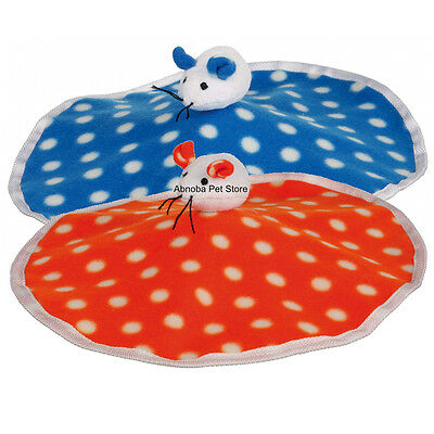 Rustling cat Mat with Plush Mouse Fleece sewn-in rustling foil & ball with bell