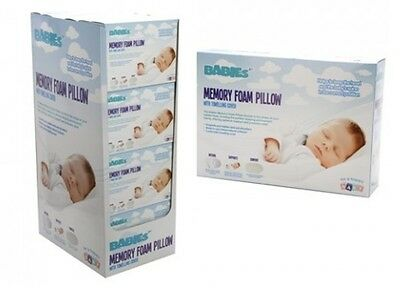 Baby MEMORY FOAM PILLOW Babies Baby`s Sleeping Safety Head Support Cot Bedding