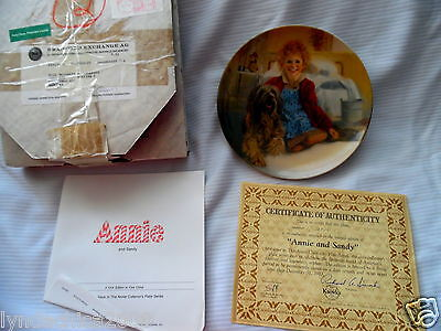 Vintage Little Orphan Annie KNOWLES COLLECTOR PLATE Annie & Sandy