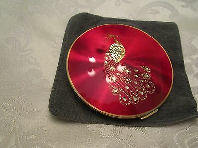 Vintage Peacock Stratton compact W/ sleeve
