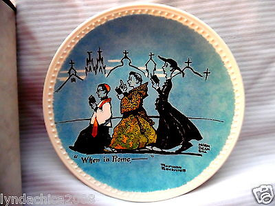 Vintage Norman Rockwell Collector Plate When In Rome