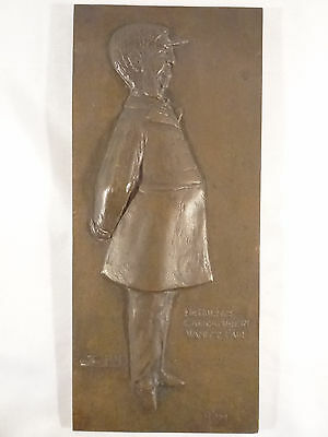 RARE! SPY Oliver Wendell Holmes Bronze Plaque as Appeared in Vanity Fair