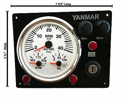 Yanmar Type B Aftermarket Panel Replacement with Multi-Gauge