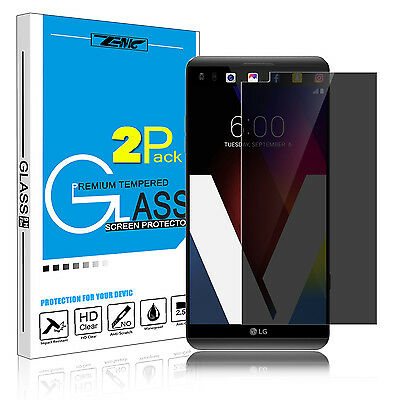 2 Pack For LG V20 Anti-Spy Privacy Saver Tempered Glass Screen Protector 9H Film