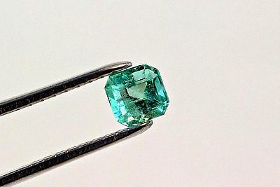 6mm 1.1 TCW Square Cut Natural Colombian Emerald Loose Gemstone