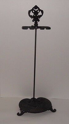 Vintage Ornate Black Cast Iron Fireplace Tool Cane Umbrella Holder Stand Taiwan