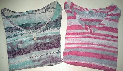 Lot of 2 Maurices womens size L Blouses