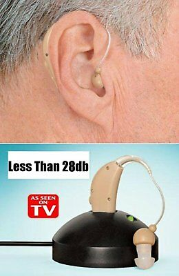 2 Rechargeable Acousticon Behind Ear Hearing Aid Audiphone Sound Amplifier BY