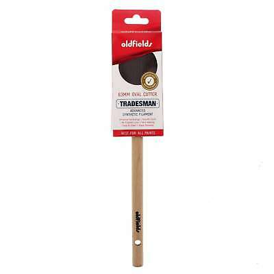 Paint Brush 63mm Tradesman Oval Cutter Oldfields Advanced Synthetic Filament