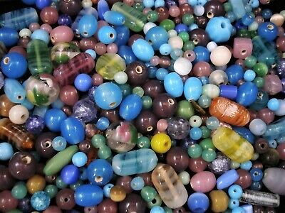 Glass Beads 50g Asst Shapes/Colours Necklace Jewellery Jewelry FREE POSTAGE