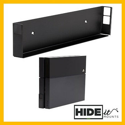 HIDEit 4 PlayStation 4 (PS4) Wall Mount Bracket Display (White/Black) HIDE IT