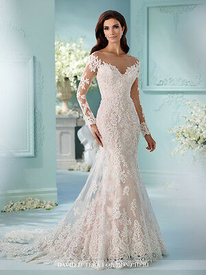 213625663a David Tutera Tulle over satin fit and flare cage dress 100% ORIGINAL