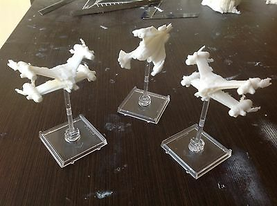 Babylon 5 Gaming set. 2 StarFury 1 Nial. Scale 1:270. Unpainted. Assembled