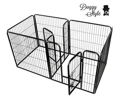 Heavy Duty Puppy Play Pen Whelping Box 7 X PANEL / Dog Enclosure / Playpens / DS