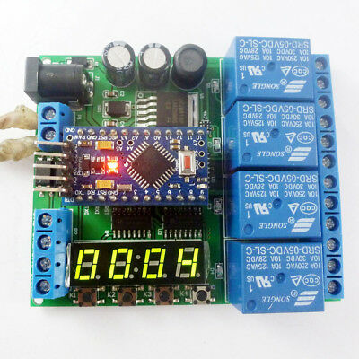 5V 12V 24V Pro mini PLC Board for Arduino LED Cycle Delay Timing Timer Relay diy