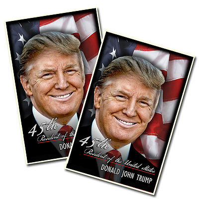 Two 45th President of the United States Donald Trump Victory Posters