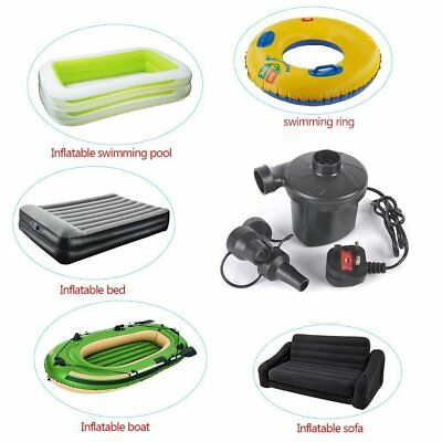 AC 220v-240v ELECTRIC AIRPUMP CAMPING AIRBED MATTRESS BLOW UP BED BOAT AIR PUM