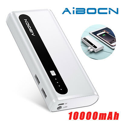 Ultrathin 10000mAh Portable External Battery Charger Power Bank for Cell Phone