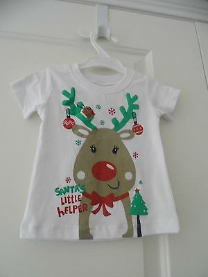 Baby Christmas T/shirt Top Size 000 Bnwt