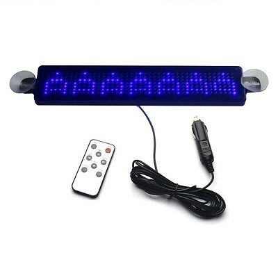 12V Car LED Programmable Message Sign Scrolling Display Board with Remote L3