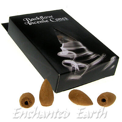 Pack of 20 New BackFlow Incense cones /Waterfall effect scented smoke/4 Scents