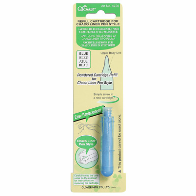 Clover Chaco Liner Pen Style Refill - Blue Chalk Fabric Marker Refill