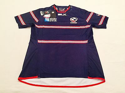 """""""USA"""" Camiseta Oficial Shirt BLK Rugby World Cup RWC 2015 - size """"M""""."""
