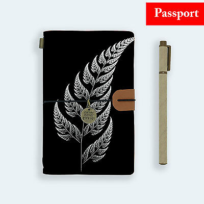 Genuine Leather Journal Travel Diary Travelers Passport Size New Zealand