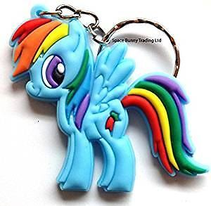 MY LITTLE PONY Key Chain KeyRing RAINBOW DASH | Rubber Keychain Ring Phone Bag