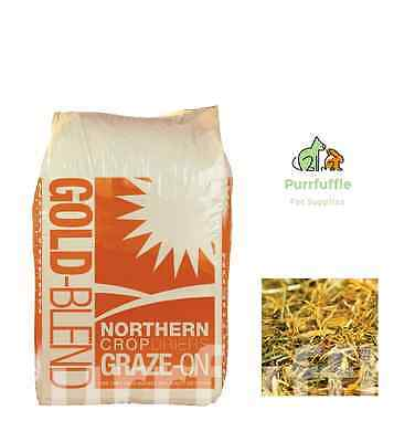 12.5Kg Graze On Gold Blend With Dried Grass & Soft Straw Fibre Horse Food Feed