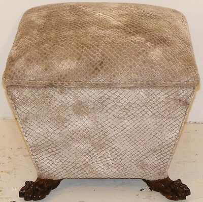 Good Quality Antique 19Th Century Upholstered Ottoman Stool