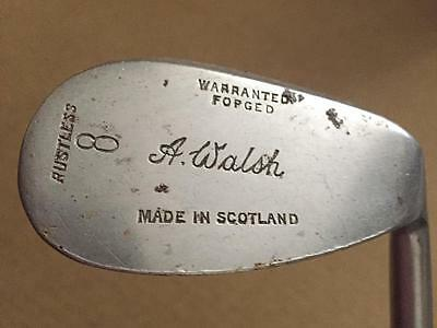 Vintage A WALSH NIBLICK 8 IRON 1930s Golf Club WARRANTED FORGED Made In SCOTLAND