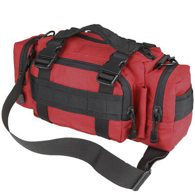 Condor Army Deployment Bag Emergency Utility Shoulder Pack Molle Carry Pouch Red