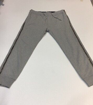 Diesel Zippy Men's Tracksuit Bottoms Size L With Zips On The Legs