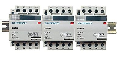 40 Amp 12 Pole Normally Open Lighting Contactor 120V Coil, 4 x 3 Set 30A