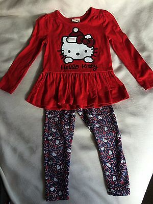 Girls Christmas Hello Kitty Outfit Age 3