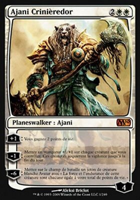 MAGIC Ajani Crinièredor / Goldmane VF M11 PLANESWALKER NEARMINT MTG