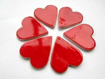 mosaic hearts 6 ceramic x large heart shapes tiles fantastic for mosaic