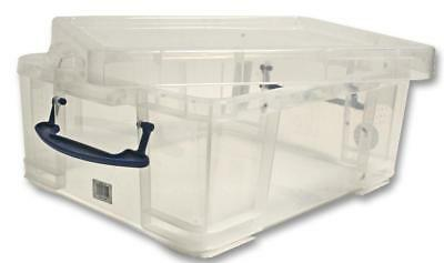 Multi-Use Clear Storage Box with Lid, 18 Litre - 200 x 390 x 480mm
