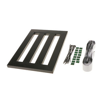 Black Metal Pedalboard + Explants & Ties for Electric Guitar Effects Pedals