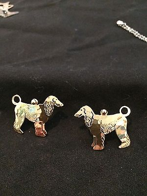 Afghan Hound Earrings in Gold handmade by Wild Bryde