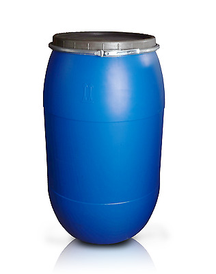 Plastic barrel 220L with clamp ring Water Storage Container Drum Keg Food Grade