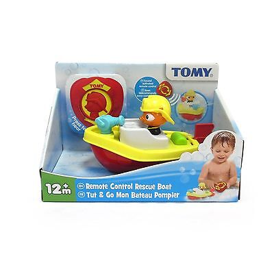 TOMY 72425 Splash of Fun Time Sound Activated Remote Control Rescue Boat Toy