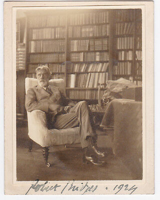 ROBERT BRIDGES - 1924 ORIG. PHOTO SIGNED by BRITAIN'S POET LAUREATE