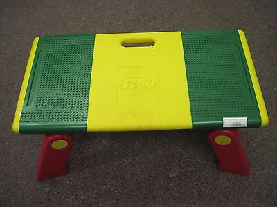 Vintage Lego Folding Play Tray Table Lap Desk Storage 6787 Yellow, Green, Red