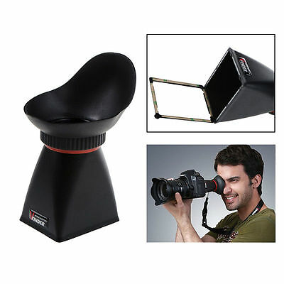 "2.5x LCD Viewfinder 3"" 40mm View Extender Eye Cup Magnifier Hood For Canon SLR"