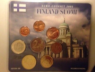 KMS Coinset 2005 Finnland Helsinki Cathedral Euro Auflage 500 Finland Suomi